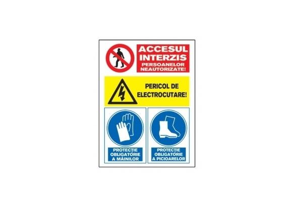 Tablite avertizare A4